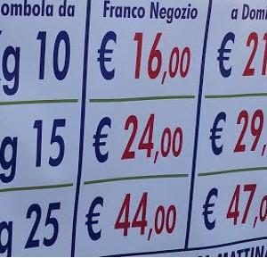 Alghero bombole da 15 kg 72 mila lire e una vergogna for Prezzo del ferro al kg oggi