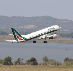 Alitalia - decollo aereo