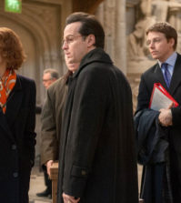 DENIAL_08843_CROP (l to r) Rachel Weisz stars as acclaimed writer and historian Deborah E. Lipstadt, Andrew Scott as Anthony Julius, Jack Lowden as James Lisbon and Pip Carter as Forbes Watson in DENIAL, a Bleecker Street release. Credit: Liam Daniel / Bleecker Street